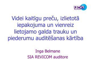 Inga Belmane SIA REVICOM auditore