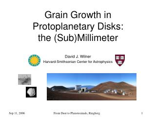 Grain Growth in Protoplanetary Disks:  the (Sub)Millimeter