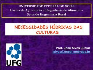 NECESSIDADES HÍDRICAS DAS CULTURAS