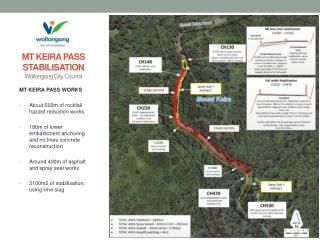 MT KEIRA PASS STABILISATION Wollongong City  C ouncil