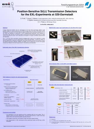 Position-Sensitive Si(Li) Transmission Detectors for the EXL-Experiments at GSI-Darmstadt