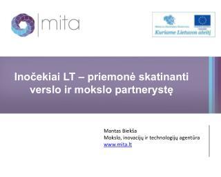 Inočekiai LT – priemonė skatinanti verslo ir mokslo partnerystę