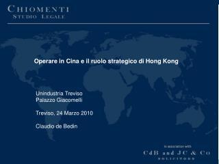 Operare in Cina e il ruolo strategico di Hong Kong
