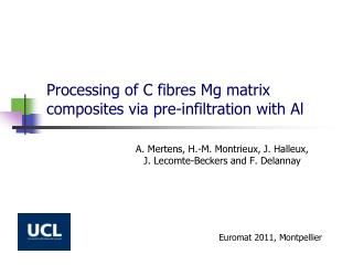 Processing of C fibres Mg matrix composites via pre-infiltration with Al