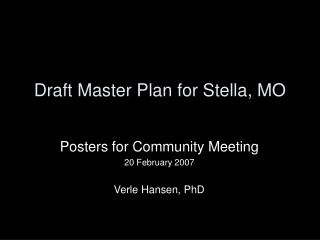 Draft Master Plan for Stella, MO