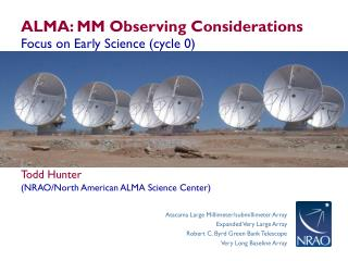 ALMA: MM Observing Considerations