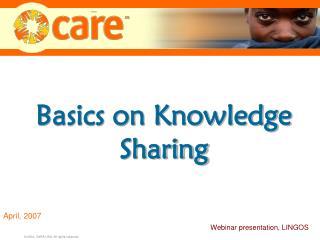 Basics on Knowledge Sharing