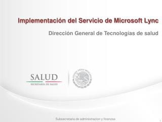Implementaci�n del Servicio de Microsoft Lync