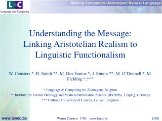 Understanding the Message: Linking Aristotelian Realism to Linguistic Functionalism