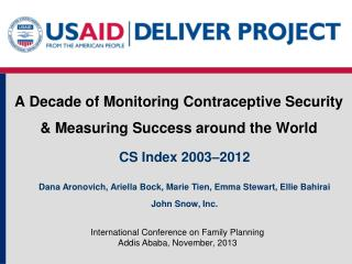 A Decade of Monitoring Contraceptive Security & Measuring Success around the World