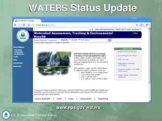 WATERS  Status Update