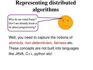 Representing distributed algorithms