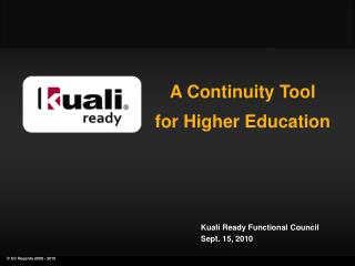 A Continuity Tool for Higher Education