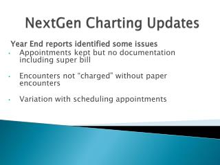 NextGen Charting Updates