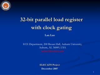32-bit parallel load register  with clock gating
