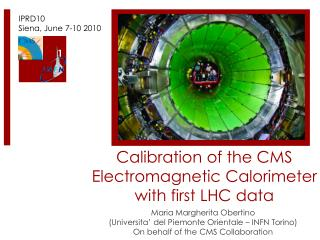 Calibration of the CMS Electromagnetic Calorimeter  with first LHC  data