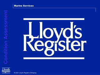 2003  Lloyd's Register of Shipping