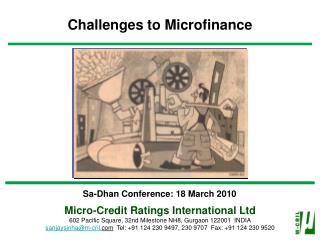 Challenges to Microfinance