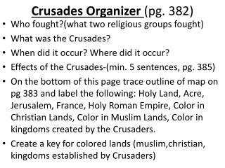 Crusades Organizer  (pg . 382)