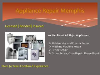 Appliance Repair Germantown TN