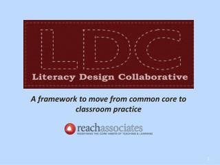 A framework to move from common core to classroom practice