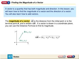 Finding the Magnitude of a Vector