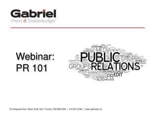 Webinar: PR 101