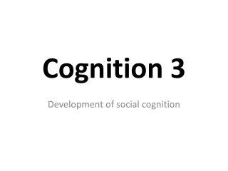 Cognition 3