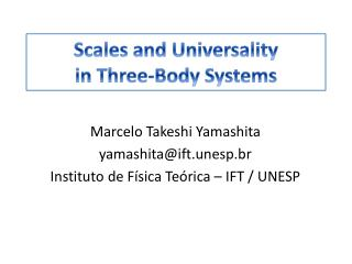 Scales and Universality in  Three-Body  Systems