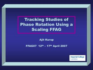 Tracking Studies of Phase Rotation Using a Scaling FFAG