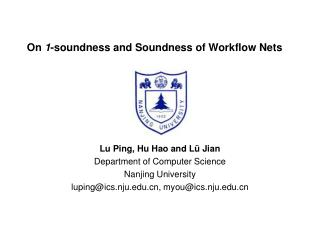 On  1 -soundness and Soundness of Workflow Nets