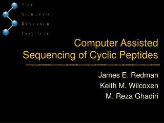 Computer Assisted Sequencing of Cyclic Peptides