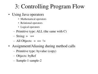 3: Controlling Program Flow
