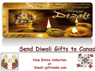 Send Gifts to Canada on Diwali