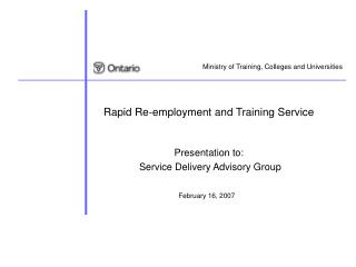 Rapid Re-employment and Training Service