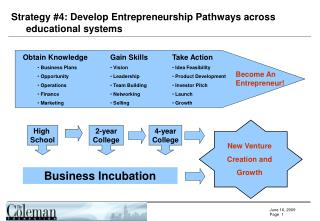 Strategy #4: Develop Entrepreneurship Pathways across educational systems
