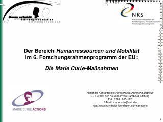 Nationale Kontaktstelle  Humanressourcen und Mobilität