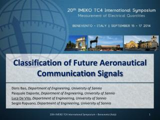 Classification of  Future  Aeronautical Communication Signals