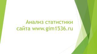 Анализ статистики сайта  gim1536.ru