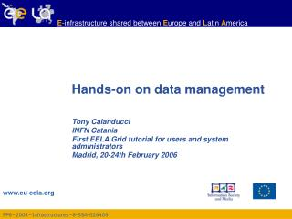 Hands-on on data management