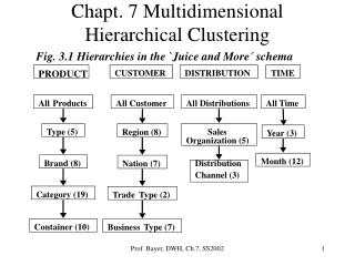 Chapt. 7 Multidimensional Hierarchical Clustering