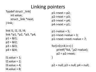 Linking pointers