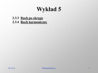 Wyk?ad 5