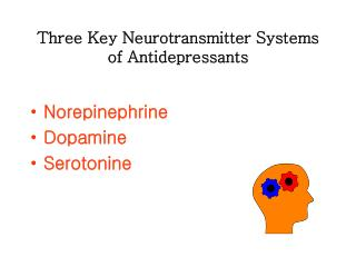 Three Key Neurotransmitter Systems of Antidepressants