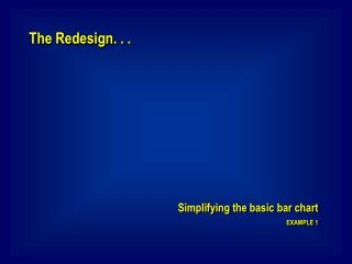 The Redesign. . .