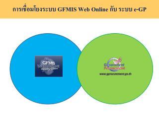 การเชื่อมโยงระบบ  GFMIS Web Online  กับ ระบบ  e-GP