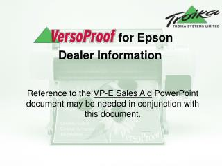 for Epson Dealer Information