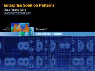 Enterprise Solution Patterns