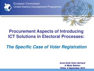 Procurement Aspects of Introducing ICT Solutions in Electoral Processes: