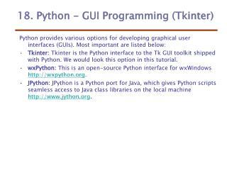 18. Python - GUI Programming (Tkinter)